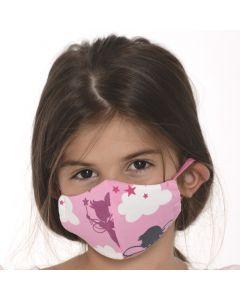 Трислойна детска маска Фея 4-8 г