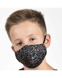 Двуслойна детска маска Математика с метален стек 6-12 г