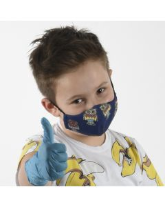 Трислойна детска маска Бухал 4-8 г