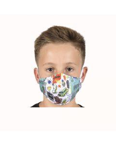 Двуслойна детска маска Study с метален стек 6-12 г