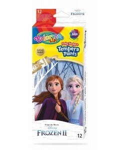 Colorino Disney Frozen II Темперни бои 12 цвята в туби 12 ml