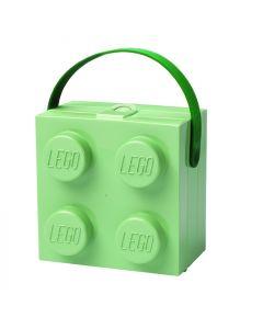 LEGO Lunch Box с дръжка - светло зелена