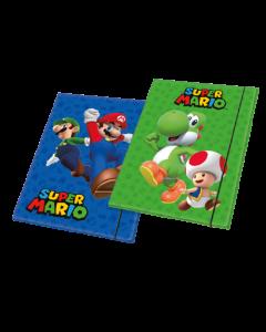 Папка с ластици Super Mario 2 бр. различни видове