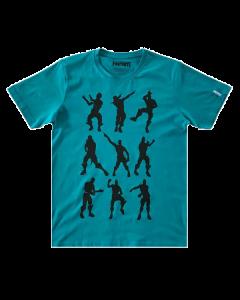 Тениска Fortnite Favourite Emotes Blue