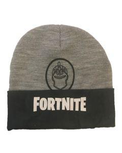 Зимна шапка Fortnite сива с шлема на Черния рицар