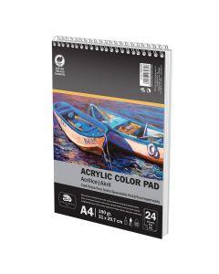 Скицник спирала А4 190 гр 24 листа Акрилни/ Темперни бои