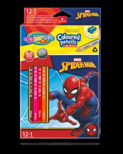 Colorino Marvel Spider-Man Триъгълни цветни моливи 12 цвята + 1 (с острилка)