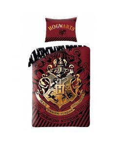 Детски спален комплект Harry Potter Hogwarts герб червен