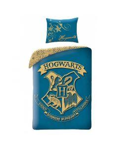 Детски спален комплект Harry Potter Hogwarts герб син