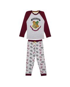 Пижама Harry Potter бордо/сив