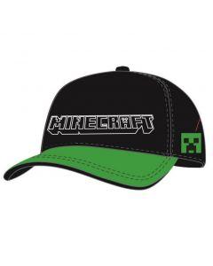 Бейзболна шапка Minecraft с надпис, черна