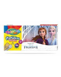 Colorino Disney Frozen II Пластилин 12 цв.+ златно и сребърно