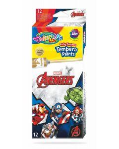 Colorino Marvel Avengers Темперни бои 12 цвята в туби 12 ml
