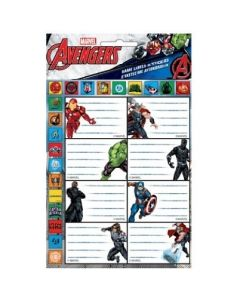 Ученически етикети Avengers - 16 бр.