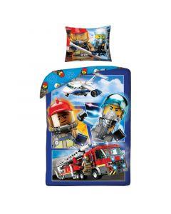 Детски спален комплект LEGO® CITY с пожарникар и пилот