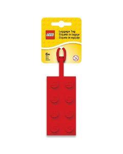 LEGO етикет (бадж) за багаж - червен