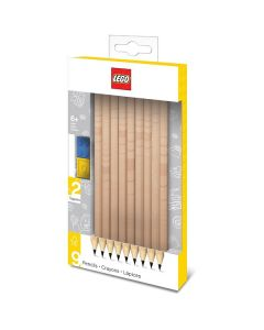 LEGO моливи - черни 9 бр.