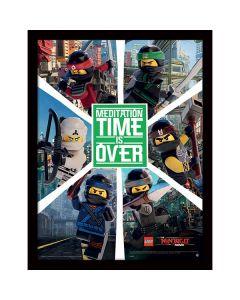 Картина Lego Ninjago movie 6 нинджи в остъклена рамка