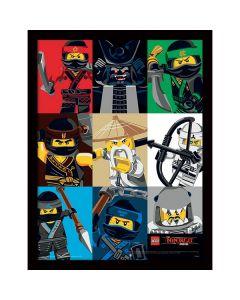 Картина Lego Ninjago movie всички нинджи в остъклена рамка