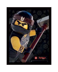 Картина Lego Ninjago movie Cole в остъклена рамка