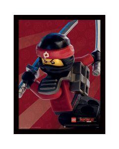 Картина Lego Ninjago movie Kai в остъклена рамка