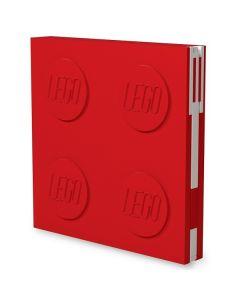 LEGO заключваща се тетрадка с гел химикал, червена