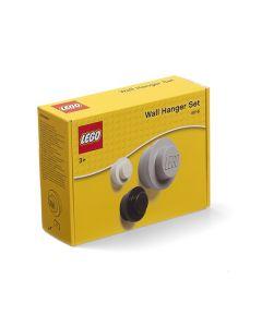 LEGO дизайнерски закачалки - 3 броя (бяла, черна и сива)