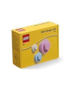 LEGO закачалки за момичета - 3 броя (бяла, синя, розова)