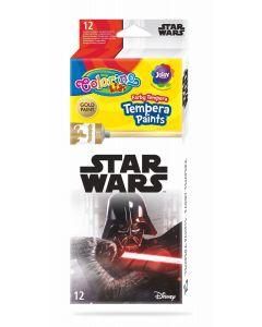 Colorino Marvel Star Wars Темперни бои 12 цвята в туби 12 ml
