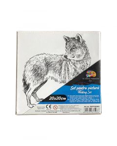 Картина за рисуване 20 х 20 см Вълк