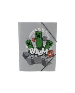 Папка с ластик Minecraft Creeper Boom