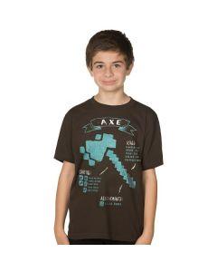 Тениска Minecraft кафява диаграма на брадва