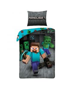 Детски спален комплект Minecraft Steeve and Mobs