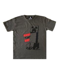 Тениска Minecraft Creeper Grey