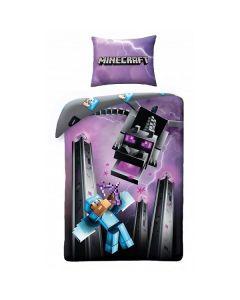 Детски спален комплект Minecraft Ender Dragon and Steeve battle