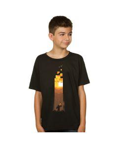 Тениска Minecraft факла