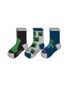 Чорапи MINECRAFT Blue Pack, 3 дизайна