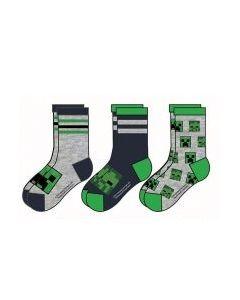 Чорапи MINECRAFT Gray Pack, 3 дизайна