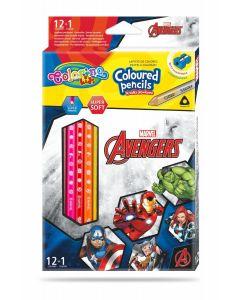 Colorino Marvel Avengers Триъгълни цветни моливи 12 цвята + 1 (с острилка)