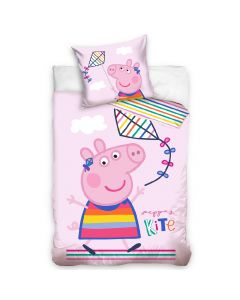 Бебешки спален комплект Peppa Pig baby с хвърчило 100x135 см