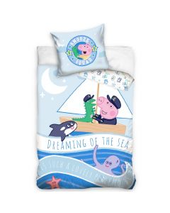 Бебешки спален комплект Peppa Pig baby море 100x135 см