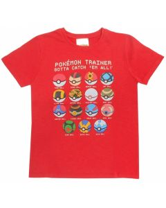 Тениска Pokemon GO червена