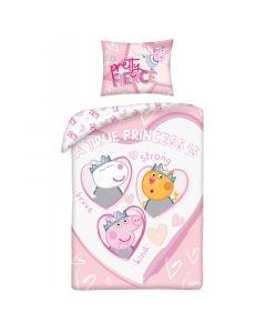Бебешки спален комплект Peppa Pig Princess 100x135 см
