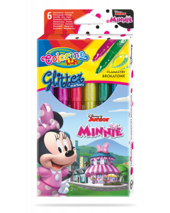 Colorino Disney Junior Minnie Glitter маркери металик 6 цвята