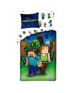 Детски спален комплект Minecraft Steve and Alex, and friends