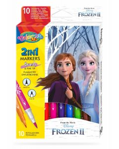 Colorino Disney Frozen II Двувръхи маркери 10 цвята