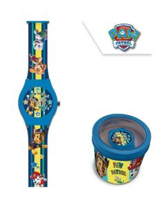 Детски часовник Paw Patrol в метална кутия