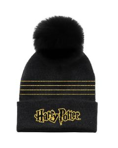 Зимна шапка Harry Potter black gold
