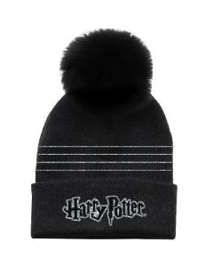 Зимна шапка Harry Potter black silver