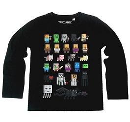 Героите на MINECRAFT на тениска
